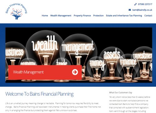bains financial planning