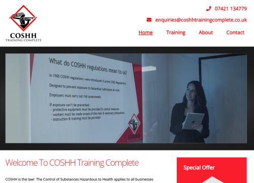 coshh training complete
