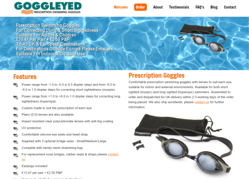 goggleyed prescription swimming goggles