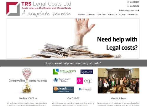 trs legal costs